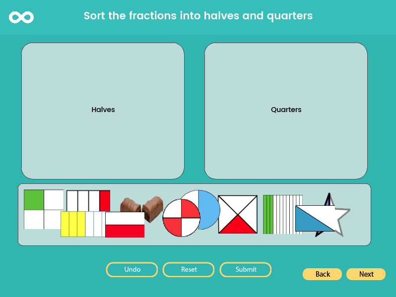 Fractions -Half & Quarters- Year 1