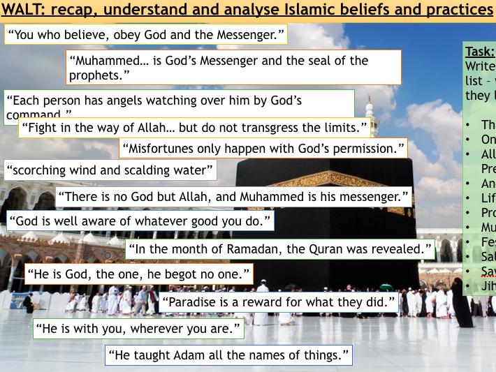 AQA Spec A Islam Revision Lesson