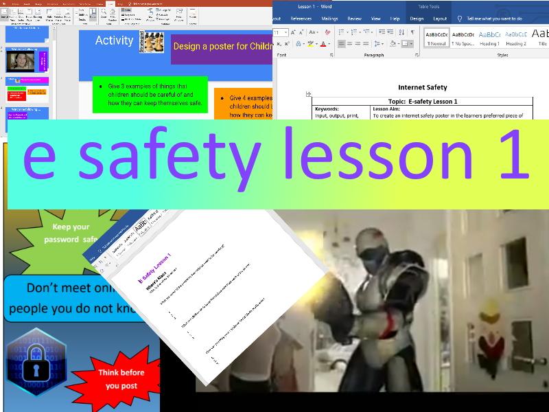 E Safety Unit Lesson 1 KS 2 - 3