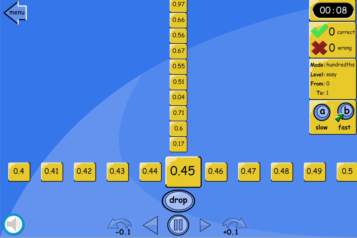 Number Line Drop: Hundredths - Interactive Activity - KS2 Number