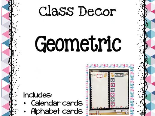 Class Decor - Geometric