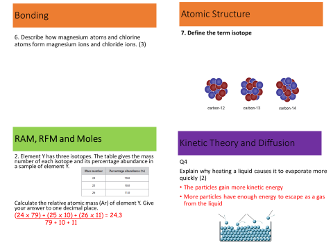 atomic structure quiz sample questions