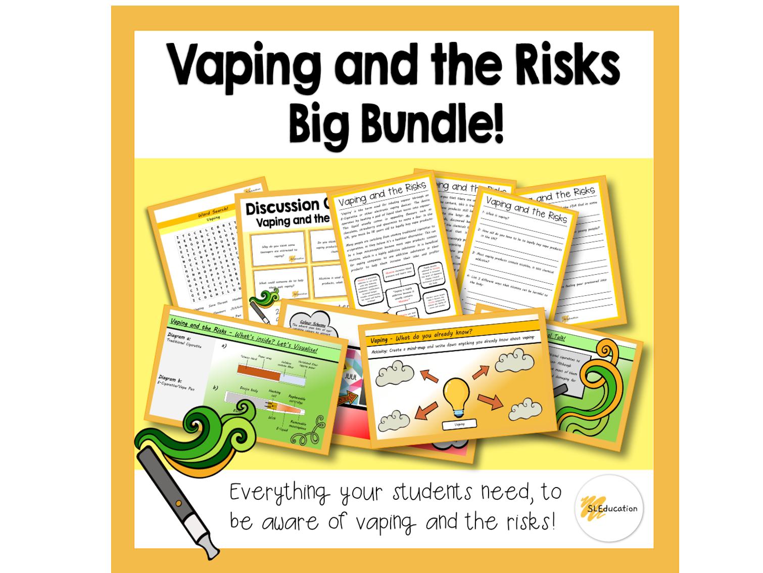 Vaping and the Risks | Big Bundle |KS3-4 | PSHE
