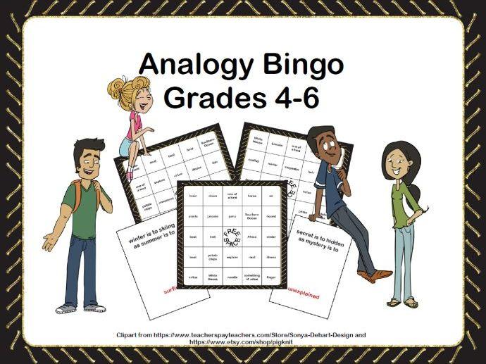 Analogy Practice-Bingo Game Fun