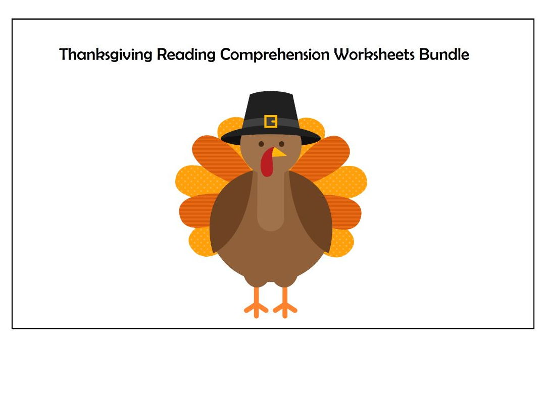 Thanksgiving Reading Comprehension Worksheets Bundle