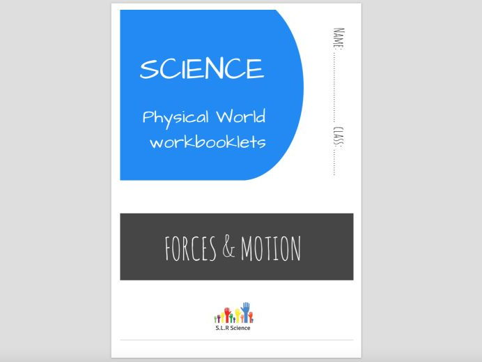 SPECIAL EDUCATION (SCIENCE) - FORCES, GRAVITY, MOTION, MASS, SPPED, WEIGHT science workbooklet