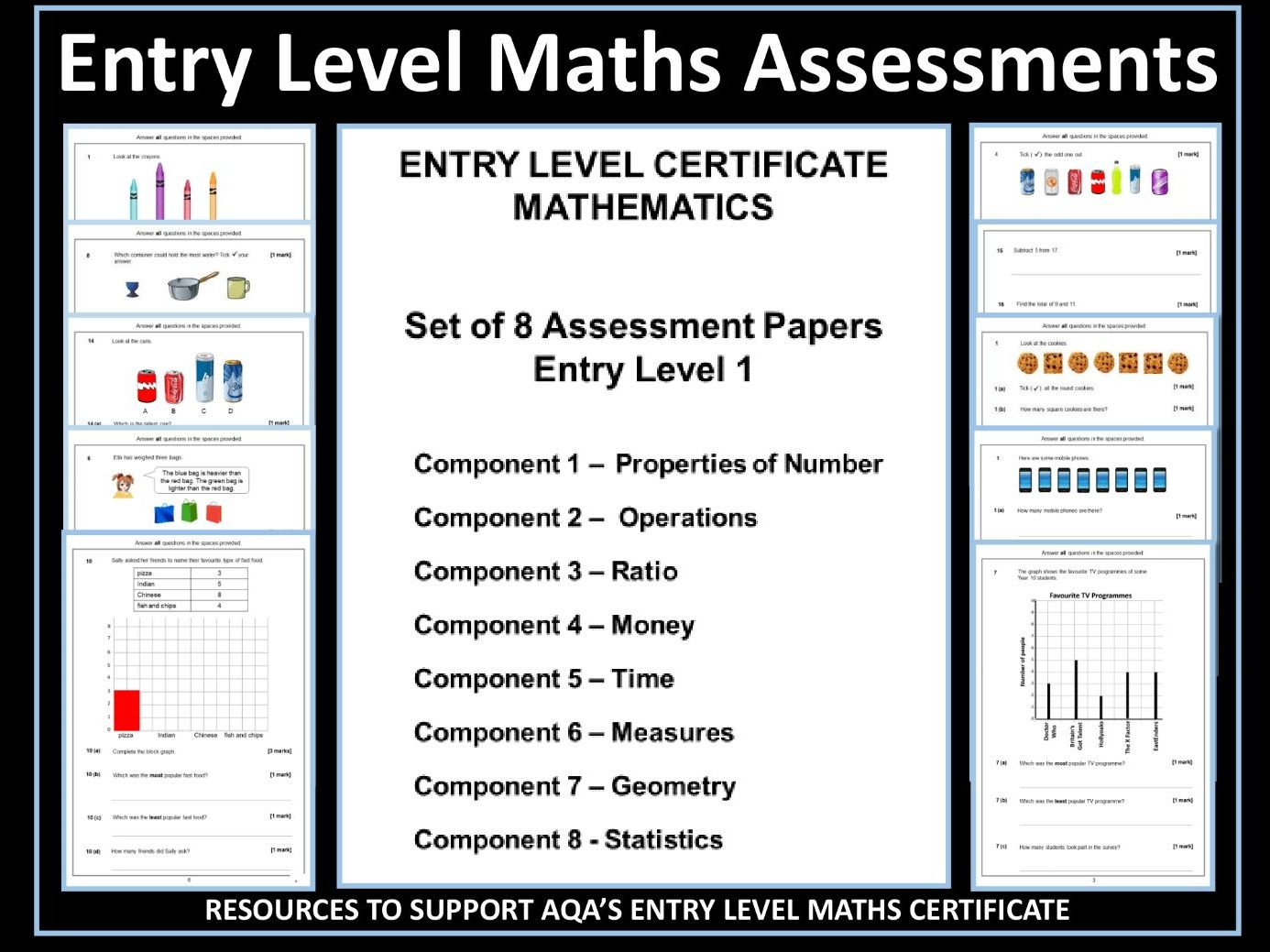 AQA Entry Level 1 Maths Assessments