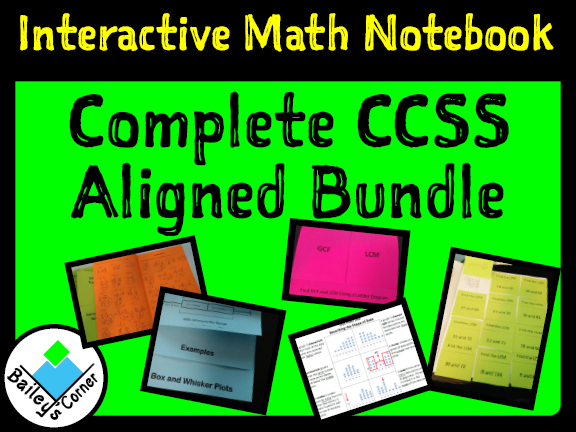 6th Grade Math Complete Bundle for Interactive Math Notebook