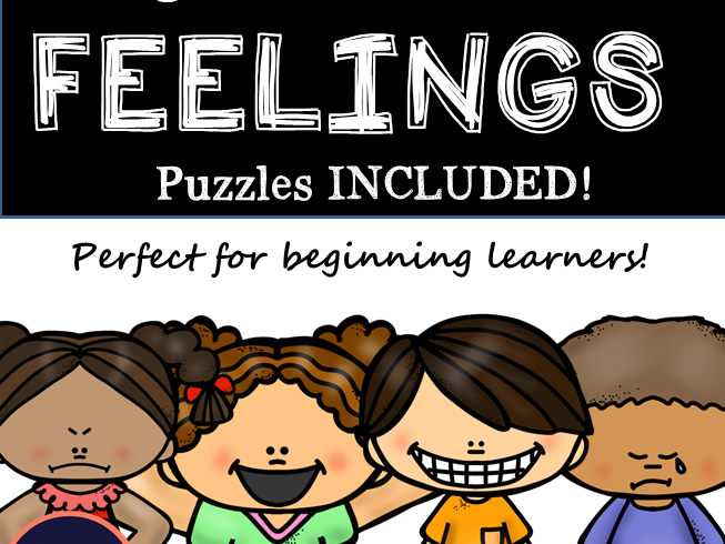 Learn About Feelings - Perfect for Beginning Learners - Pre-K- 1