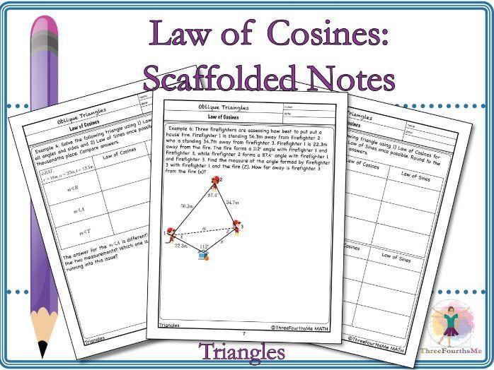 Law of Cosines: Scaffolded Notes