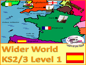 SIX  LESSON PRIMARY SPANISH UNIT (KS2/3): Countries, Capitals, Nationality, Where you live/are from