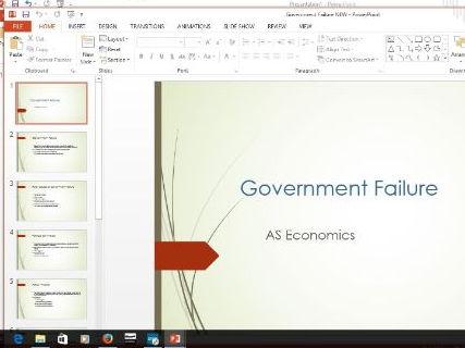 Economics - Goverment failure