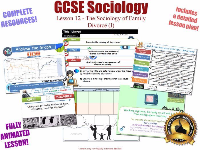 Divorce (I) - Sociology of Families - L12/20 [ AQA GCSE Sociology - 8192] 1945 Full Lesson