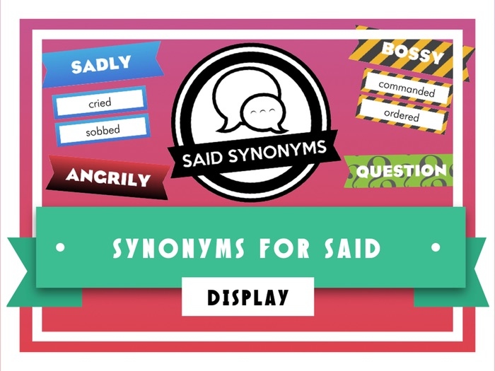 Synonyms for Said Display