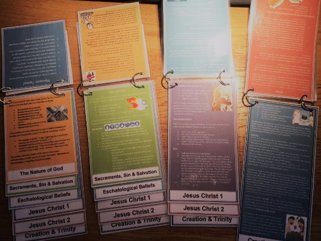 Christianity: Beliefs and Teachings Flip Cards Revision Cards