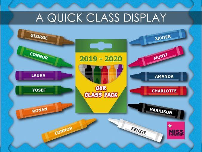 Class Display, Quick Class Display, New Class Display