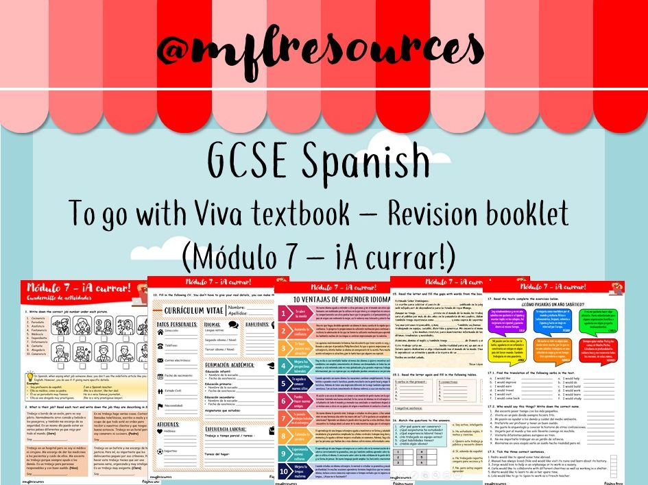 GCSE Spanish - Módulo 7 ¡A currar! - Revision booklet