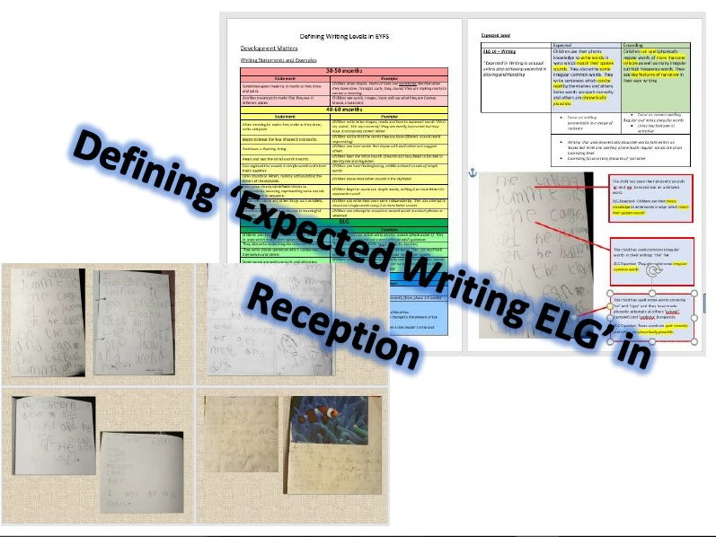 Defining Expected ELG in Writing - Examples and Explanation