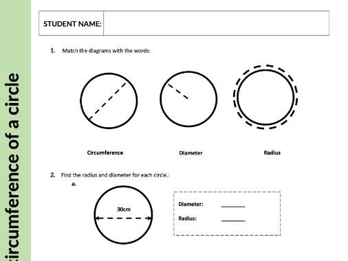 Area and Circumference of a Circle - Geometry & Measures - KS3