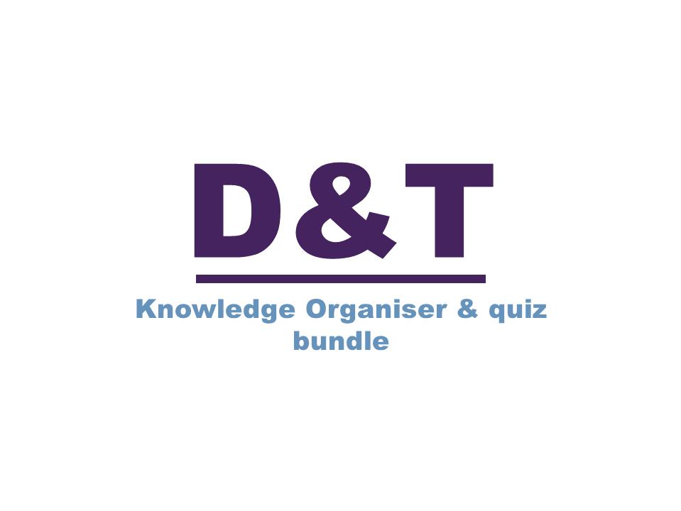 Knowledge organiser and quiz bundle #1
