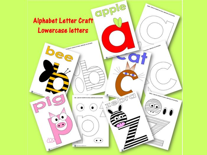 Alphabet Letter Craft - Lowercase letters