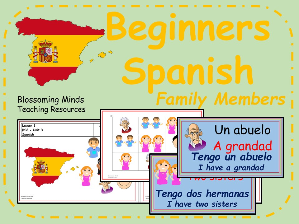 Spanish lesson and resources - KS2 - Family Members