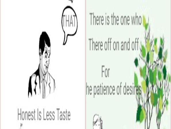 Honest Is Less Taste 7