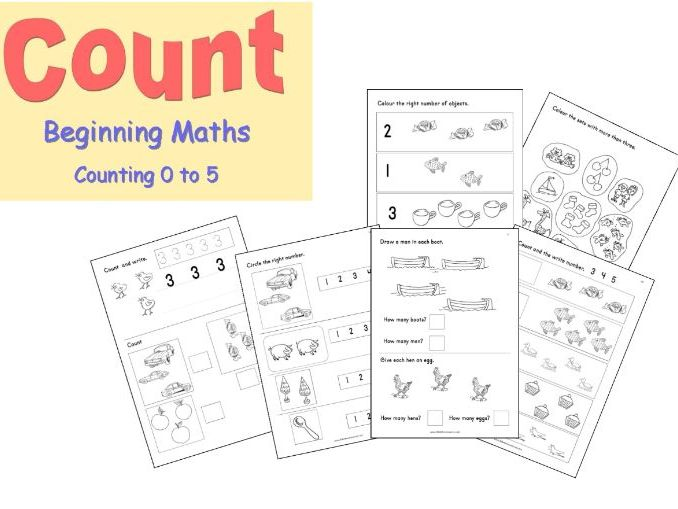 Reception Maths 0 to 5 number workbook for home-learning