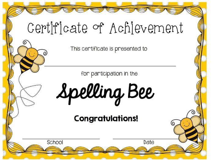 Whole School Spelling Bee Lists