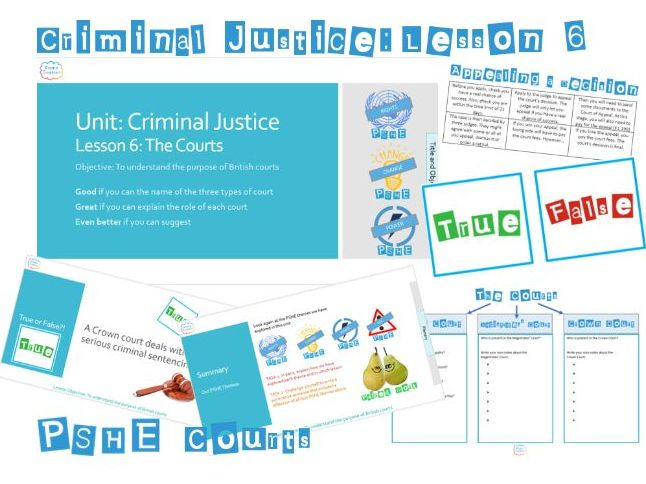 PSHE Criminal Justice: Lesson 6 The Courts - Whole Lesson