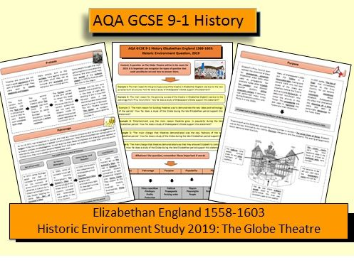 AQA GCSE 9-1 Elizabethan England: Historic Environment Study 2019 - The Globe Theatre Revision Guide