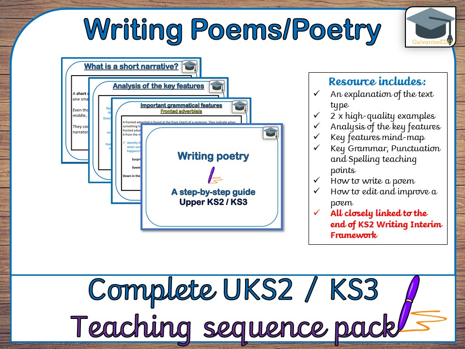 Complete Poetry teaching sequence (UKS2 / KS3)