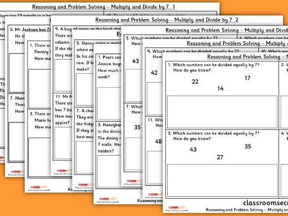 Year 4 Multiply and Divide by 7 WRM Multiplication and Division Reasoning and Problem Solving