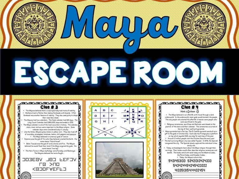Maya ESCAPE ROOM: Mayan Civilization, Mexico and Hieroglyphics