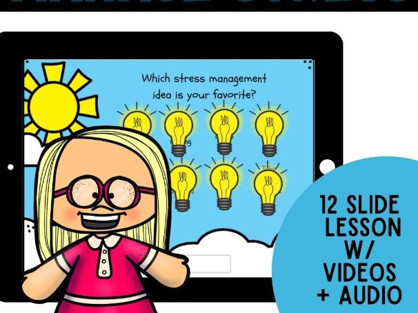 Manage Stress: BOOM CARDS