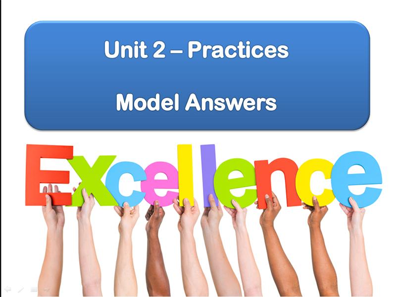 Model Answers: Unit 2 Practices (Edexcel Catholic Christianity)