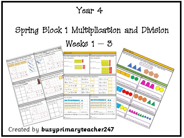 Year 4 Spring Block 1 multiplication and division Units Weeks 1-3