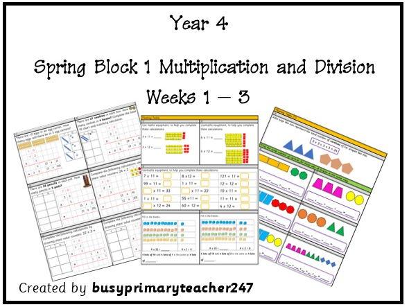 Year 4 Spring Block 1 - Units Weeks 1-3