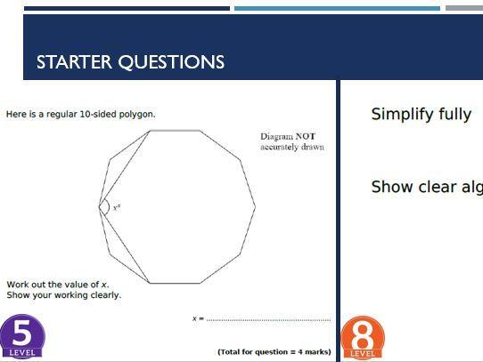 Higher GCSE Maths Starters (Target 5 - 9)