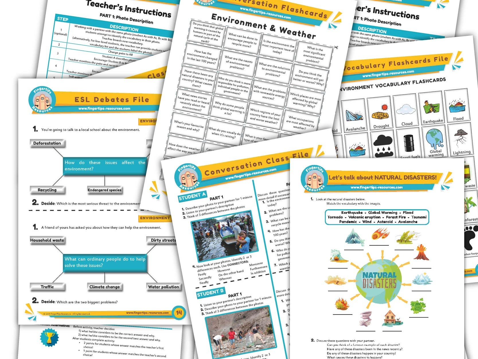 Environment & Pollution Unit - ESL Activity Bundle