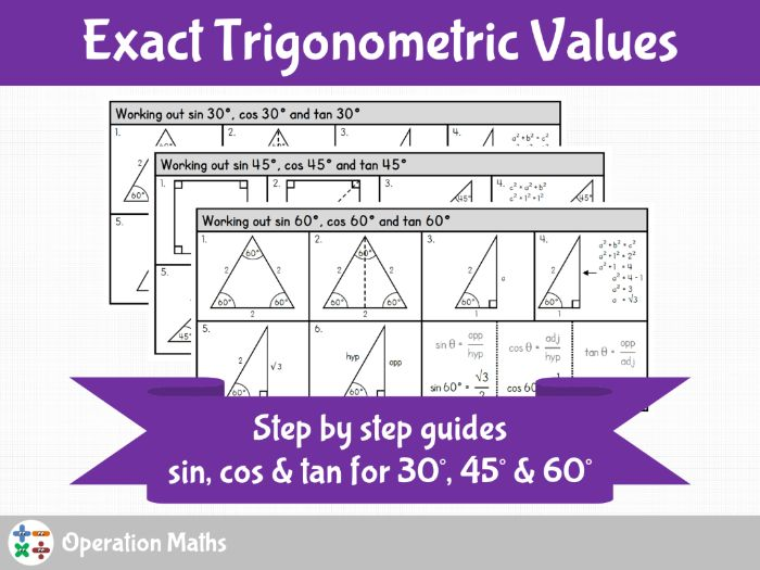 Exact Values of Trigonometric Ratios