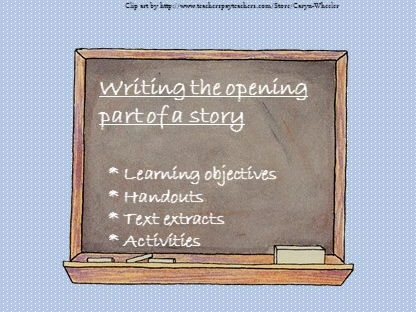 Writing the opening part of a story. AQA GCSE (9-1) paper 1, Sec B/Creative Writing.