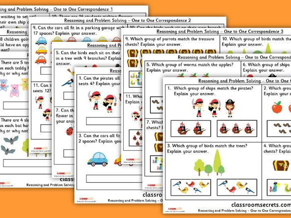 Year 1 One to One Correspondence WRMH Place Value Reasoning and Problem Solving Pack