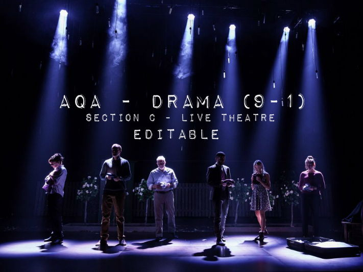 AQA Drama (9 - 1) - Live Theatre - Lighting Question - Editable