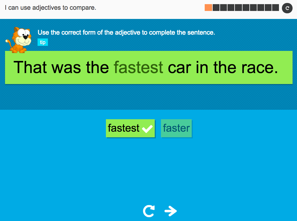 I can use adjectives that compare - Interactive Activity - Year 2 Spag