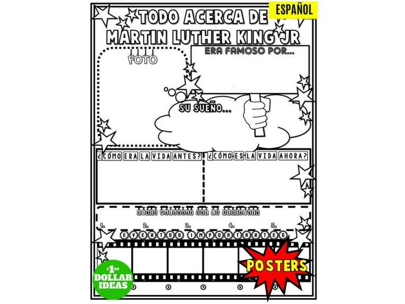 MARTIN LUTHER KING JR POSTER | ESPAÑOL | TODO ACERCA DE MARTIN LUTHER KING JR