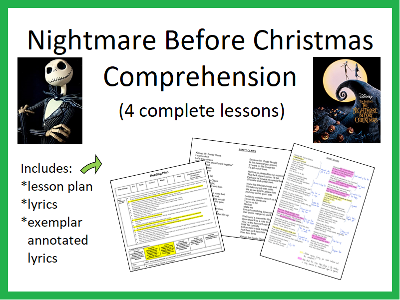Nightmare Before Christmas Comprehension