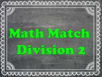 Maths Matching: 9-15 division tables