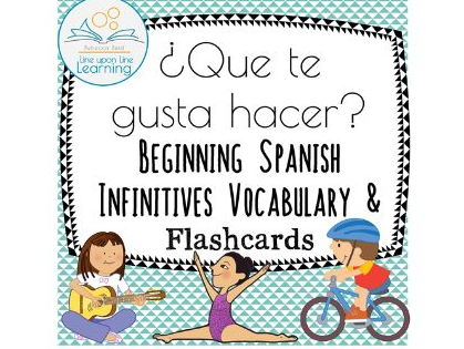 Spanish Conversation Infinitives Flashcards, worksheets, and ideas (Que te gusta hacer?)