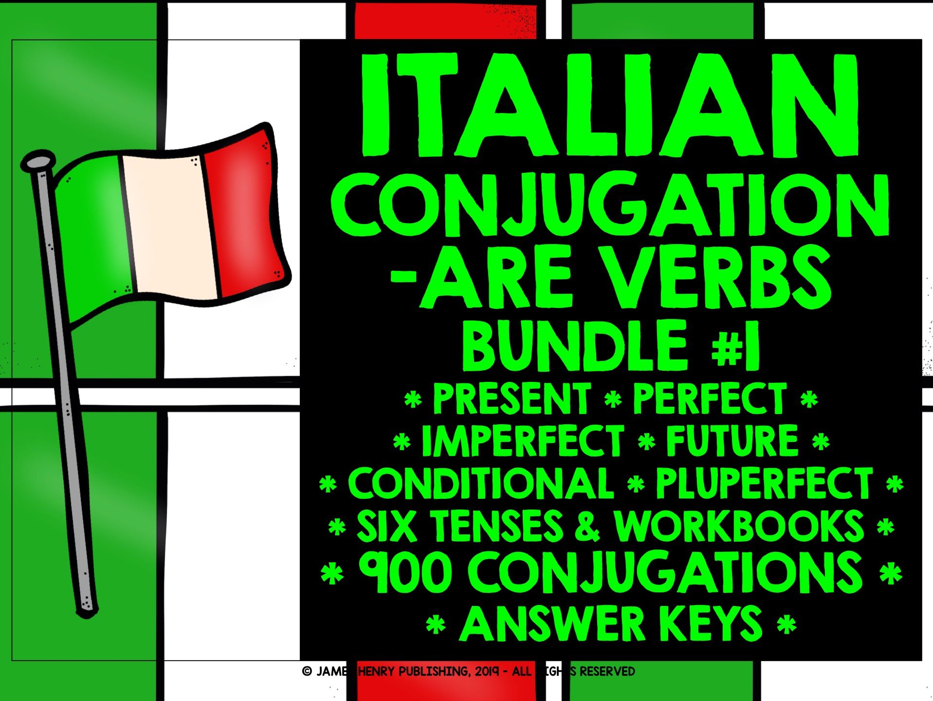 ITALIAN -ARE VERBS CONJUGATION BUNDLE #1